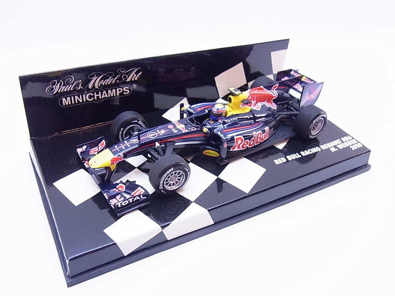 Lot 26224   MINICHAMPS 410100006 rouge Bull Racing Renault M WEBBER 2010 1 43 neuf dans sa boîte