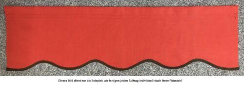0,5m fertig genähter Volant Schabracke nach Maß für Ihre Markise,Farbe wählbar