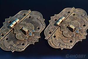 Gastfreundlich 2 Verschlüsse Antik Abschließbar 86mm Schließe Schatztruhe Truhe Schatzkiste Alt Ausgezeichnete In QualitäT
