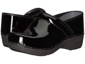 Dansko-PRO-XP-2-0-PATENT-BLACK-Womens-Leather-Slip-Resistant-Clogs-Shoes