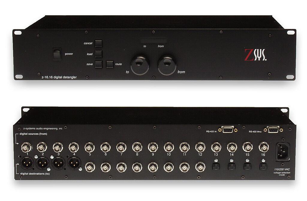 Z-Sys Z-16.16 Digital Detangler XLR BNC TOSlink TOSlink TOSlink SPDIF 4 8 4 Audio Router Switch  auténtico