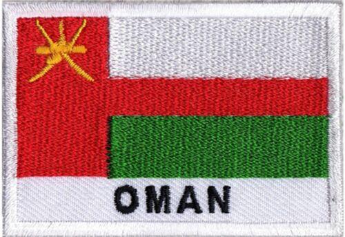 Ecusson brodé patche patch à coudre drapeau sultanat OMAN 70 x 45 mm