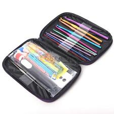 Mixed Knitting Tools Crochet Needle Hook Accessories Supplies W/ Case Knit Kit