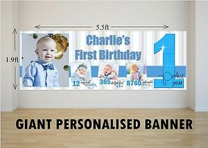 Personalised-GIANT-Large-Boys-1st-First-Happy-Birthday-Banner-N62-One-Year
