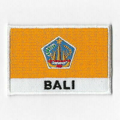 Bali National Flag Iron on Patches Embroidered Applique Badge Emblem