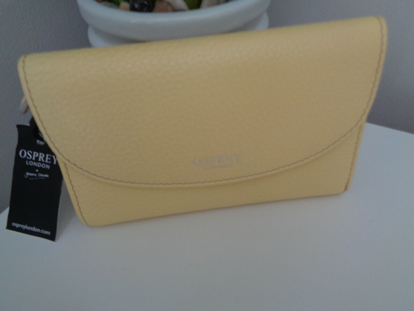 BNWT Osprey OSP 107 Yellow Leather Purse Wallet