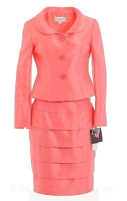 1170-2 Le Suit Donna Urbano Satinato A Più Livelli Abito Rosa Corallo 4 $ 240