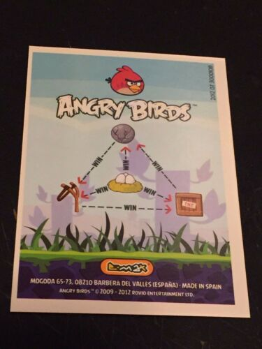 ANGRY BIRDS 2012 GOLD Foil SLINGSHOT Chase Trading Card # 177 SP Rare 1 Per BOX