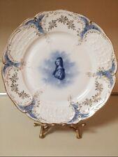 Antique Rosenthal Plate Sanssouci Flow Blue Porcelain Singer Gal. Dresden