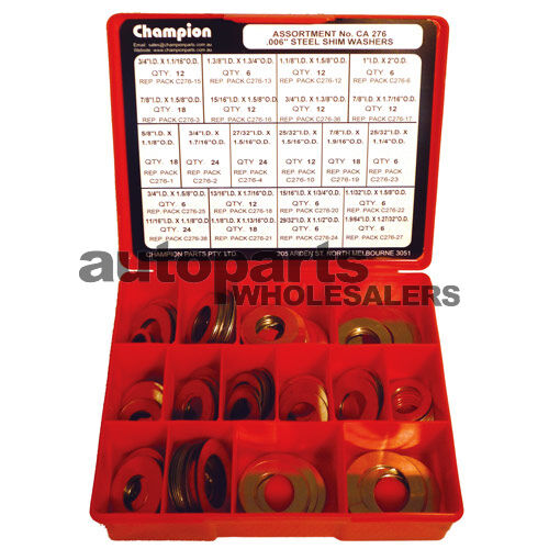CHAMPION SHIM STEEL WASHERS ASSORTMENT KIT 270 Pieces