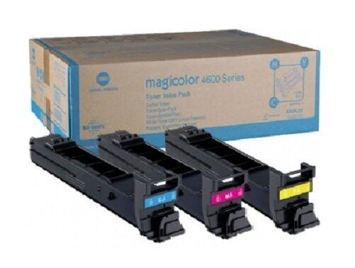 3 x Original Toner Konica MagiColor 5550 5570 5650EN / A06VJ53 C/M/Y MultiPack