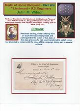 Medal of Honor Recipients~ Civil War ~ John M. Wilson ~ Great Auto on Army Card