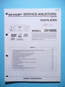 Brillant Service Manual-anleitung Für Sharp Dv-560 S,original Tv, Video & Audio