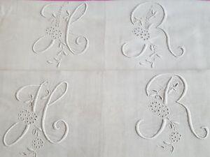 Lot-de-2-draps-de-lin-ancien-avec-couture-centrale-brode-HR-et-jour-12884