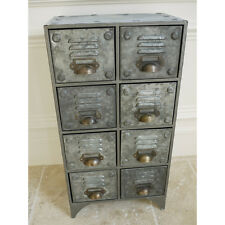 Stile Retrò Vintage Industriale Armadietto in metallo 8 Cassetti Armadietto Credenza