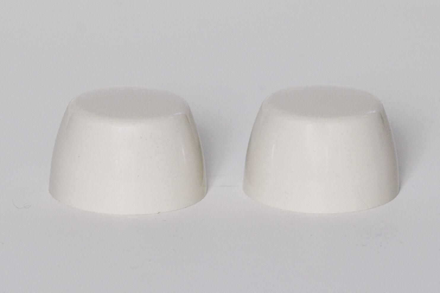 Set of 2 VENETIAN PINK Briggs Replacement Ceramic Toilet Bolt Caps