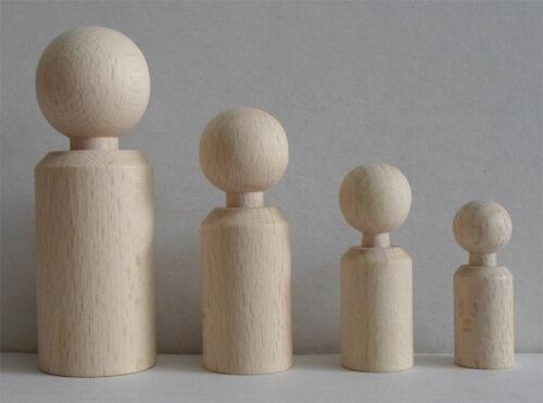 Buche unlackiert 47 mm hoch #4445 Figurenkegel zylindrische Form