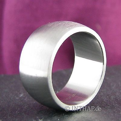 Ring - Edelstahlring matt - extra breit - Damenring Herrenring Edelstahl |Mimp