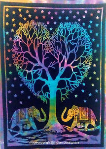 New Life Tree HomeDecor Cotton Tapestry Hippie Wall Hanging Poster Multi Hippy