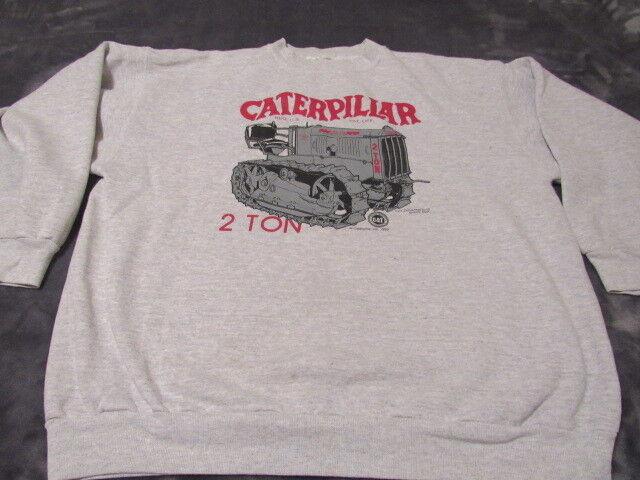 CAT Caterpillar Tractors 2 TON MENS SWEATER SIZE LARGE GREAT SHAPE 1992 RARE