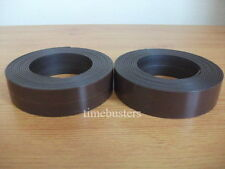 2m Side A and 2m Side B Self Adhesive Magnetic Tape Magnet Strip 25mm