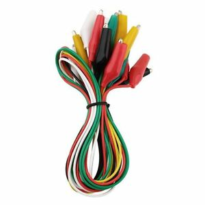 Quality Jumper Set Line Clamp Cable Crocodile Alligator Clip Lead Wire Test