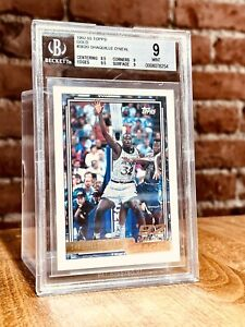1992 Topps Gold Shaquille O'Neal ROOKIE RC #362 PSA 9 MINT - READ