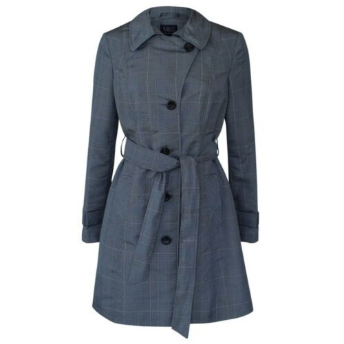 New Ex M/&S Ladies Check Mac Trench Raincoat Stormwear Jacket Sze 6-20 RRP £49.50
