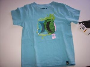 New Hurley short sleeve tee T shirt boys toddler 2T or 3T navy blue OR white