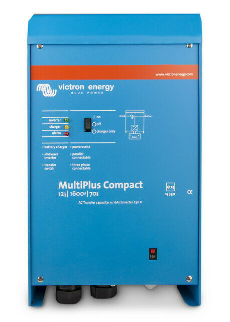 MultiPlus Compact 24V 1600VA - 1300W Inverter/Charger  - AS NEW FOR R8000