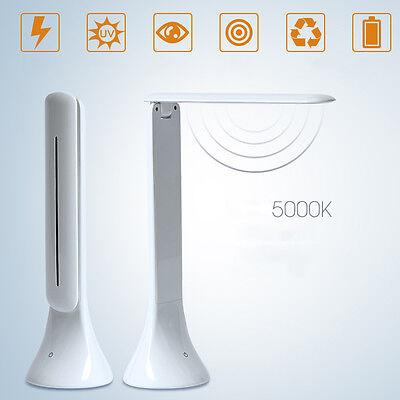 Foldable USB Rechargeable Touch Sensor LED Desk Table Lamp Reading Light