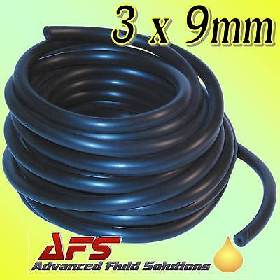 3mm x 9mm 1//8 retard vide tube tuyau caoutchouc 1 mètre