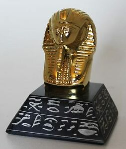 4-034-Egyptian-Brass-and-Natural-Stone-Sculpture-of-King-Tut-Hand-Carved-1609