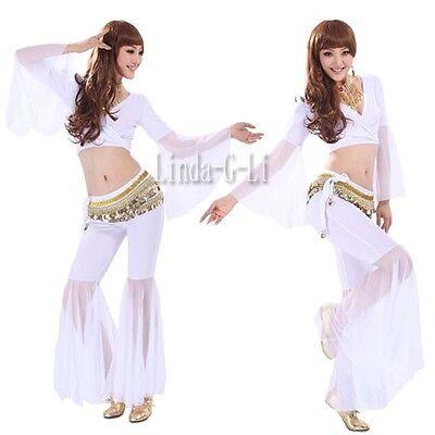 Sexy Yoga Belly Dance Costume 2 Pics Set Top + Pants 8 Colors 4/4
