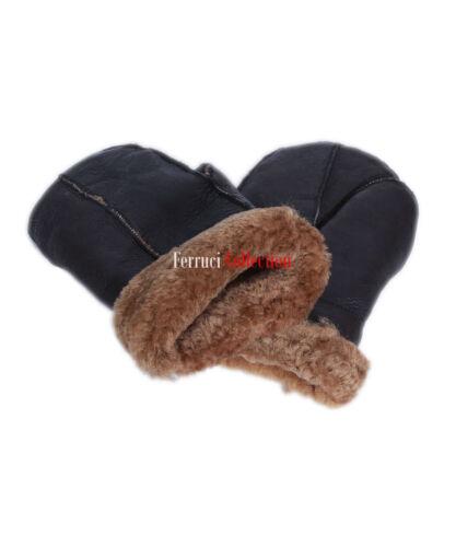 Pantaloni Uomo Donna Unisex Marrone / Zenzero Caldo L'inverno Montone Pelle Di Pecora Mitten Guanti