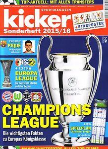 2015-2016-Kicker-Champions-League-Preview-Europa-League-Sonderheft-Football