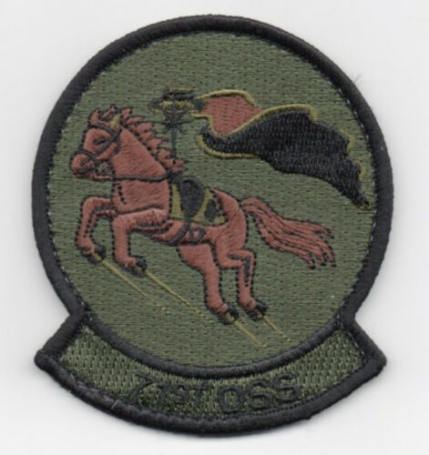 "hook side backing USAF Patch 71st OPS SUPPORT SQ OCP COLOR 3.5/"" Flt Suit size"
