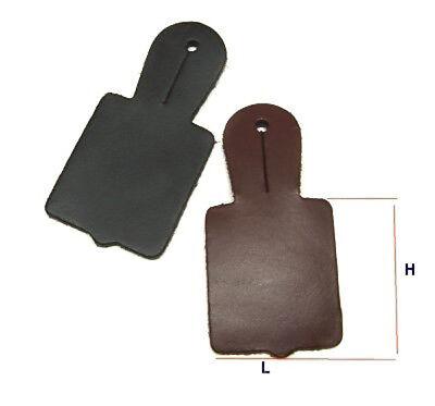 Porta scudetto da petto cm 4,5X6 in cuoio