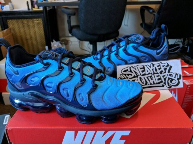 new product 66e35 7ab45 Nike Air Vapormax Plus Obsidian Blue Photo VM Max Tuned 924453-401 HYPER  Flyknit 8