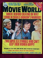 Vintage MOVIE WORLD Magazine May 1975  Robert Redford Charles Bronson