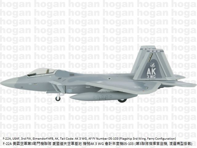 Hogan Wings Lockheed Martin F-22A Scale 1:200 USAF 1st Operation Group LIF6849