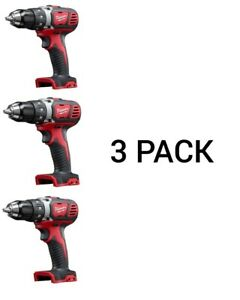 """Milwaukee M18 2606-20 Cordless Compact Drill 1/2"""" (3) pack"""
