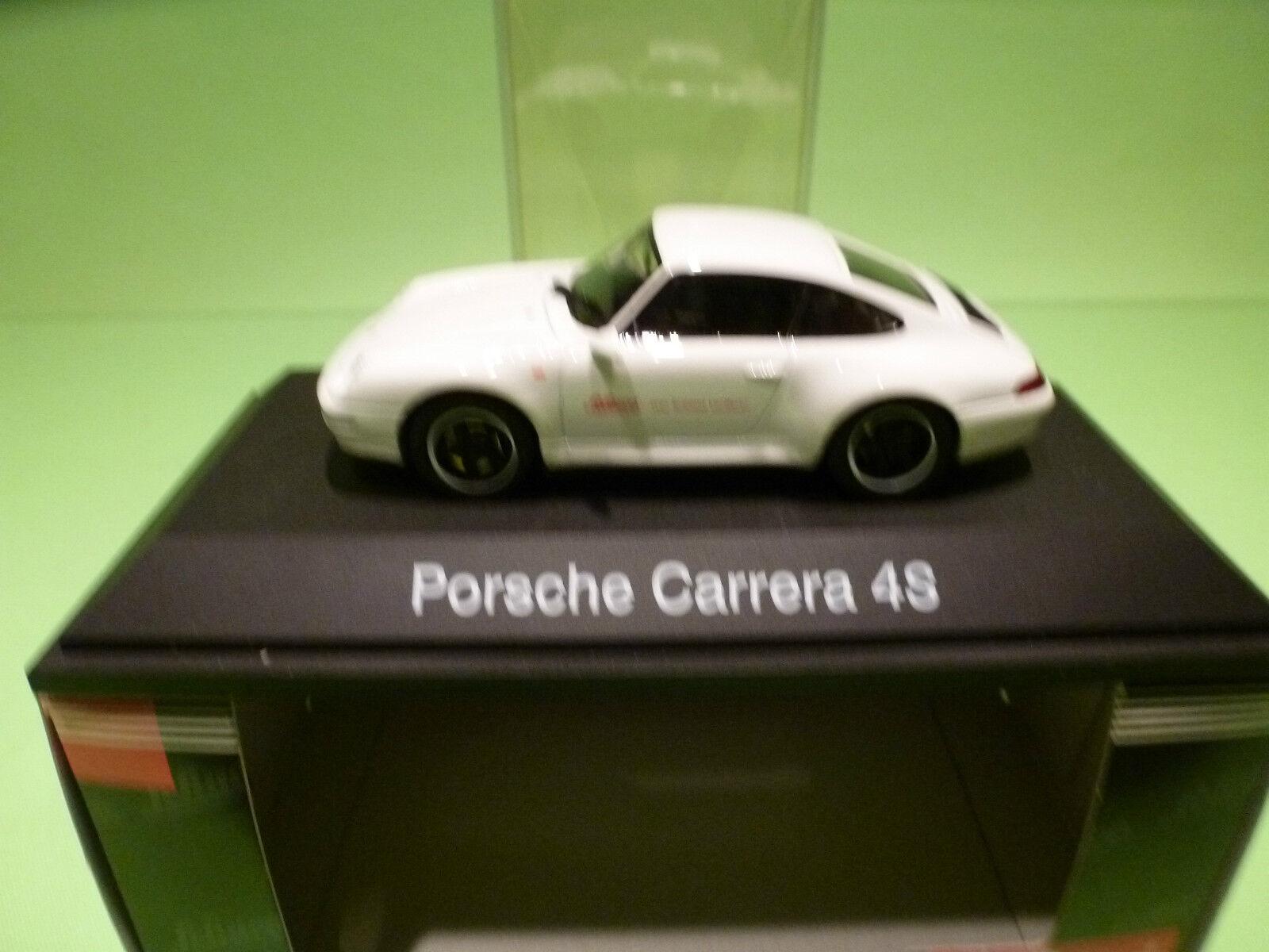 SCHUCO 04153 PORSCHE CARRERA 4S - 1 43 - - - WHITE - MINT IN BOX 5e68a8