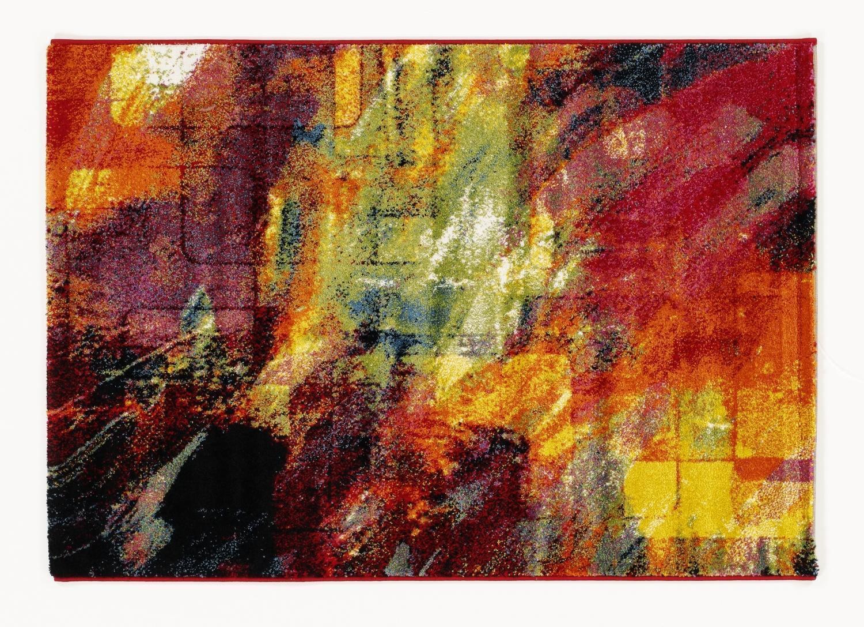 Tappeto Spazzola MultiColoreeee Designer HA026 New Spazzola Tappeto Moderno 65x130cm Coloreeato 4be153
