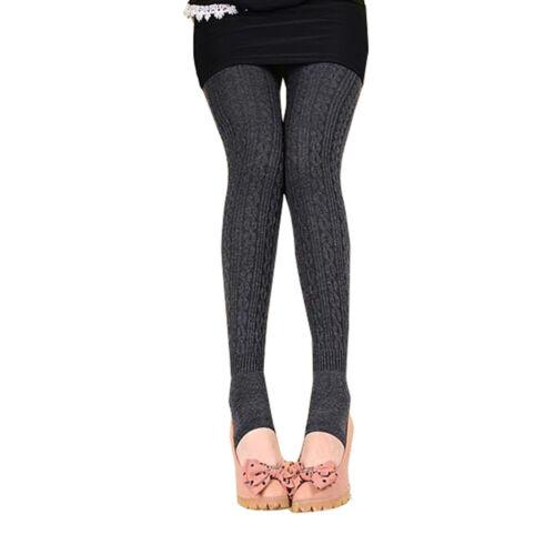 Winter Women Thick Legging Cashmere Knitted Velvet Warm Elastic Black Slim Pants