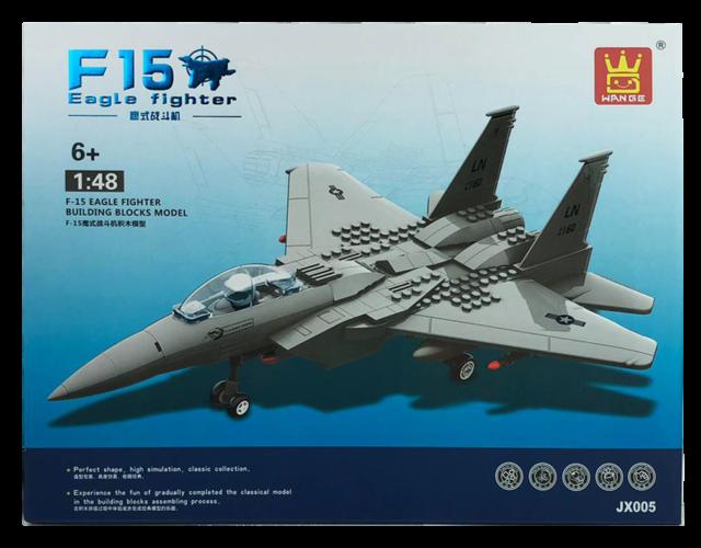 F-15 Eagle Fighter Jet / Plane Building Blocks Bricks- Wange