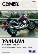 1998-2011 Yamaha V-Star VStar XVS 650 Classic Custom CLYMER REPAIR MANUAL M495