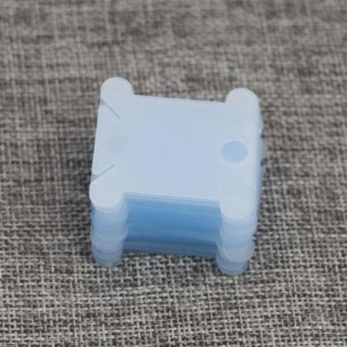 Plástico Bobinas de hilo de bordar Artesanía de almacenamiento de punto de cruz hilo Devanadera 120 un