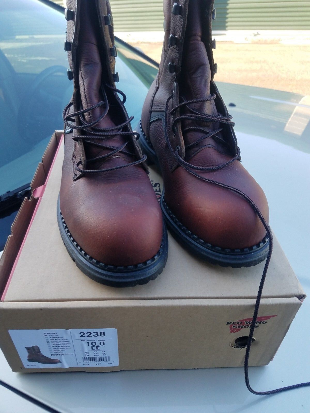 Red Wing 2238 8  steel toe work boot