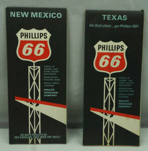 Phillips-66-New-Mexico-and-Texas-Maps-Phillips-Petroleum-Company-1960-039-s